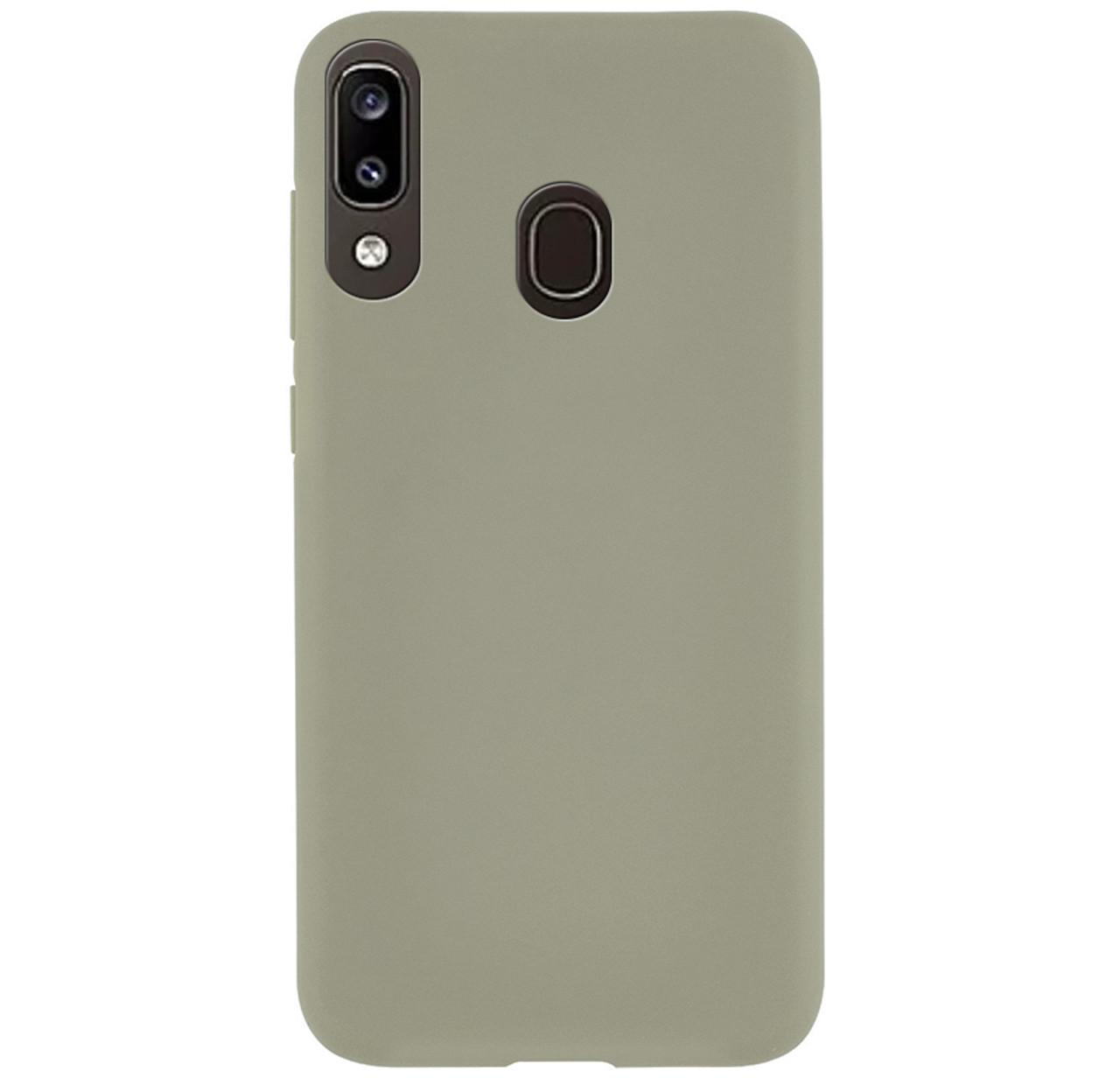 Силиконовый чехол Epik матовый для Samsung Galaxy A20 (2019) SM-A205F Grey