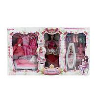Мебель 6953-A гостиная, диван, кукла30см-шарнирн, фигурка, платья,в кор-ке,60-35-8,5см