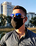 Маска мужская | женская защитная хлопковая гипоаллергенная двухслойная многоразовая, x black от ROYAL PLAY, фото 2