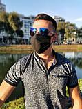 Маска мужская | женская защитная хлопковая гипоаллергенная двухслойная многоразовая, x black от ROYAL PLAY, фото 8