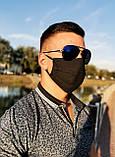 Маска мужская | женская защитная хлопковая гипоаллергенная двухслойная многоразовая, x black от ROYAL PLAY, фото 9