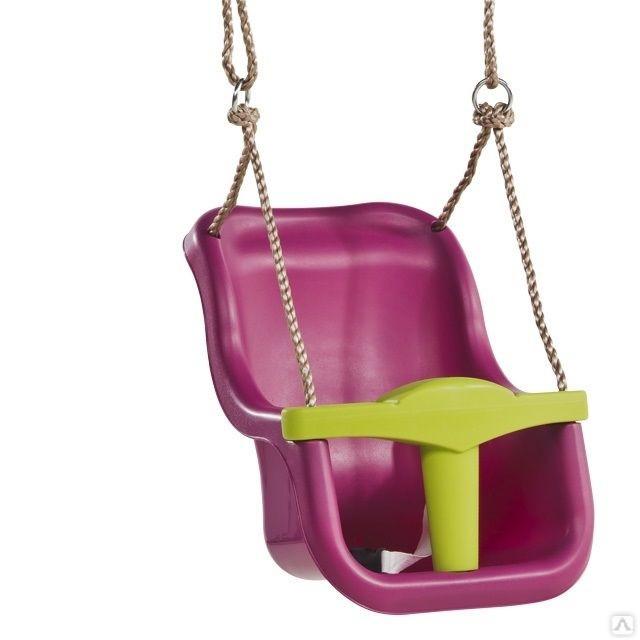 Качели для детей с защитой Kbt Luxe фиолетовые