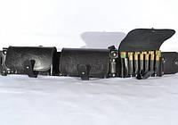 Патронташ на 36 патронов комбинированый закрытый кожаный черный