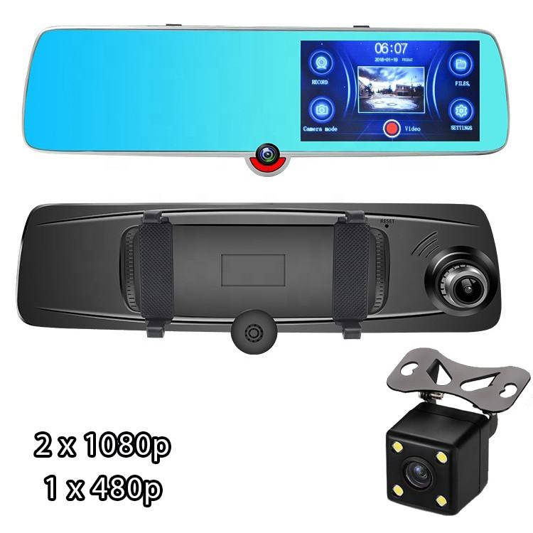 Відеореєстратор дзеркало з двома камерами Vehicle Blackbox Touch Screen H618 Full HD і камера заднього виду