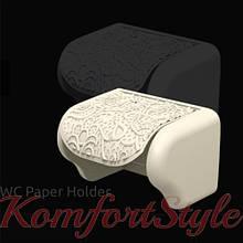Держатель для туалетной бумаги ажурный, цвета в ассортименте