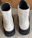 Ботинки белые молодежные деми из натуральной кожи от производителя модель АР284, фото 3