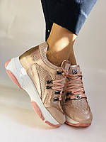 Стильні жіночі кеди-кросівки пудра.Натуральна шкіра. Висока якість.Туреччина р. 37. 38., фото 4