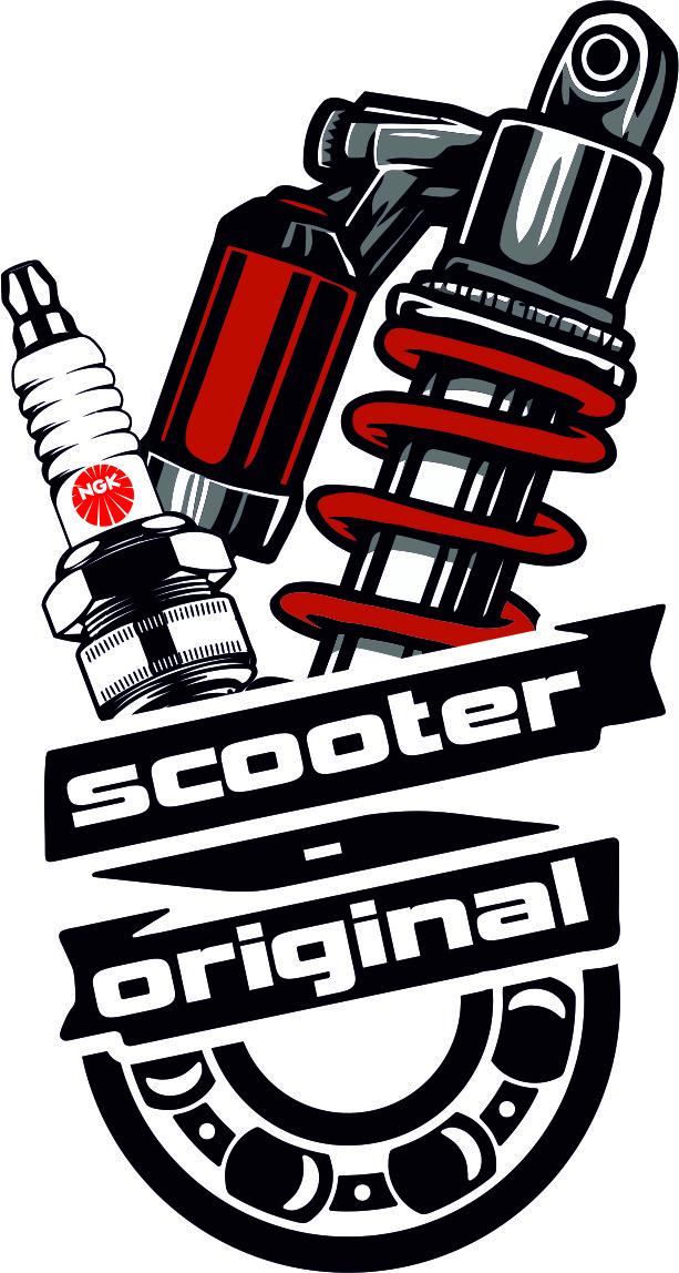 Наклейка Scooter Original 5х9 см.