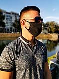 Маски черные защитные хлопок, мужские,женские, стильные, многоразовые, фото 8