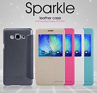 Чехол-книга для Samsung Galaxy A7 A700 Nillkin Sparkle, фото 1