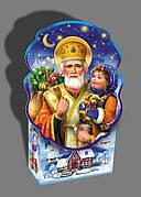 Упаковка праздничная новогодняя из картона Святой Николай, до 500г, от 1 ящика