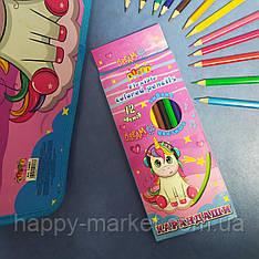 Олівці кольорові 12 кольорів Kidis Unicorn Dreams 13356