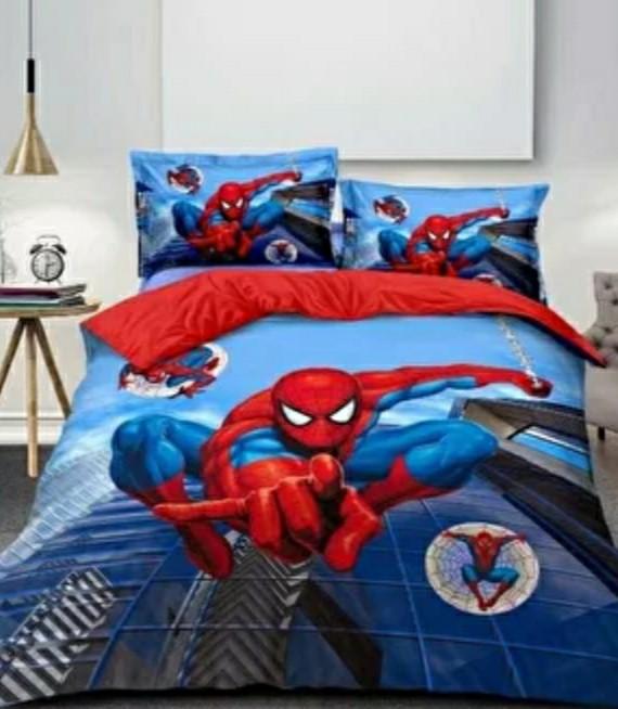 """Подростковое постельное полуторное белье """"Spider man"""", 3D, 100% хлопок"""