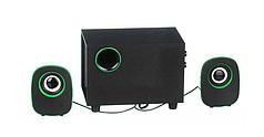 Колонки компьютерные HLV FT-H3 mini 2.1 USB Black/Green