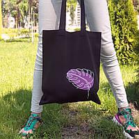 Шоппер Манстера, рисунок ручной работы, ткань хлопок саржа