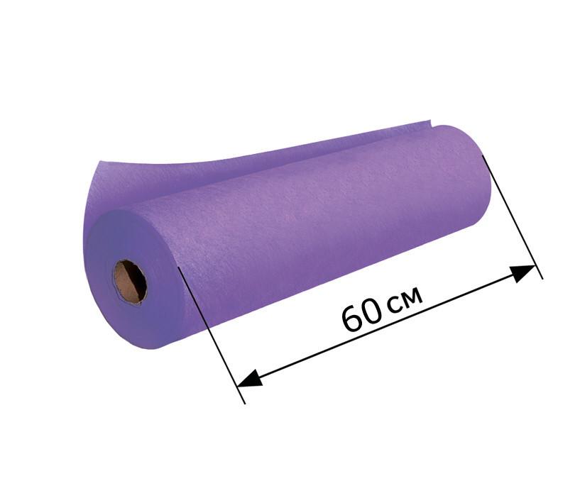 Одноразові простирадла, 0,6*100 м, фіолетова