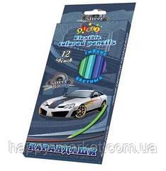 Олівці кольорові 12 кольорів Kidis Street racing 13319