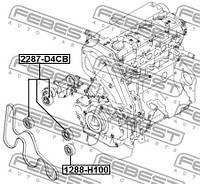 Ролик натяжителя Febest FE 2287-D4CB