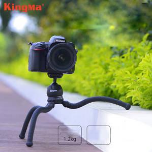 Гибкий штатив для телефона Kingma с максимальной нагрузкой до 2 кг.