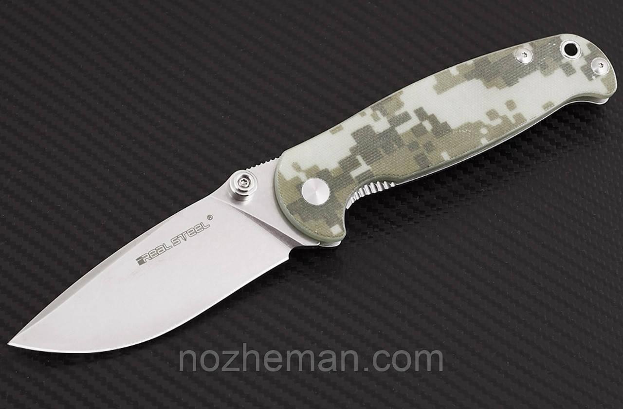 Складной нож Кощей 2, рукоять состоит из двух лайнеров – стального и полимерного из G10