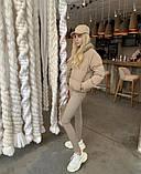 Осенняя короткая куртка женская черная красная бежевая серая белая горчица какао 42 44 46 дутая стиль, фото 6