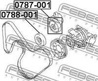 Ролик натяжителя комплект Febest FE 0787-001