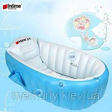 ОПТ Надувная ванночка Intime Baby Bath Tub голубая