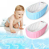 ОПТ Надувная ванночка Intime Baby Bath Tub голубая, фото 3