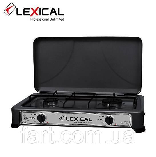 Газовая плита LEXICAL LGS-2812-2 настольная на 2 конфорки