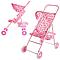 Розовая коляска игрушечная прогулочная для кукол Melogo 9304, игрушки для девочек 4 лет, фото 4