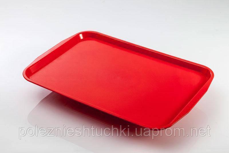Поднос прямоугольный 26х35см, поликарбонат красный, Fast Food, GastroPlast
