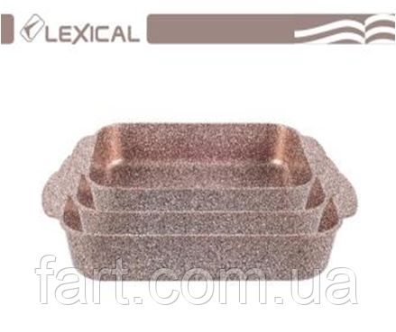Набор форм для выпечки 3 шт LEXICAL LG-740301-5 Golden
