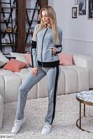 Женский стильный спортивный костюм, размеры 42, 44, 46, 48