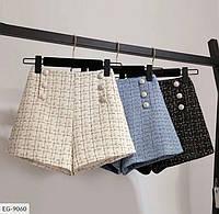 Женские короткие шорты с завышенной талией, размеры S, M, L