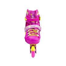 Роликові ковзани Nils Extreme NA1005A Size 39-42 Pink, фото 3