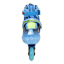 Роликові ковзани Nils Extreme NJ4605A Size 34-37 Blue, фото 3