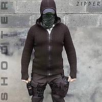 Свитер с капюшоном СТРЕЛОК ZIPPER BLACK