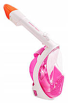 Маска для снорклінгу (плавання) SportVida SV-DN0002 Size S/M Pink, фото 3
