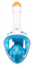 Маска для снорклінгу (плавання) SportVida SV-DN0003 Size L/XL Blue, фото 3