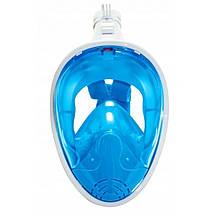 Маска для снорклінгу (плавання) SportVida SV-DN0003 Size L/XL Blue, фото 2