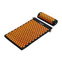 Килимок акупунктурний з валиком 4FIZJO Аплікатор Кузнєцова 72 x 42 см 4FJ0042 Black/Orange, фото 3