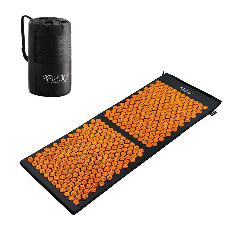 Килимок акупунктурний 4FIZJO Аплікатор Кузнєцова 128 x 48 см 4FJ0047 Black/Orange
