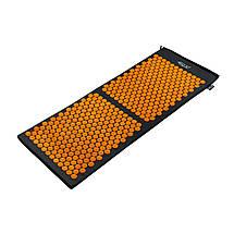 Килимок акупунктурний 4FIZJO Аплікатор Кузнєцова 128 x 48 см 4FJ0047 Black/Orange, фото 2