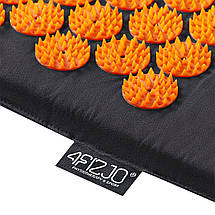Килимок акупунктурний з валиком 4FIZJO Аплікатор Кузнєцова 128 x 48 см 4FJ0049 Black/Orange, фото 3