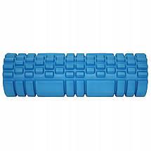 Масажний ролик (валик, роллер) SportVida EVA 45 x 14 см SV-HK0213 Blue, фото 3