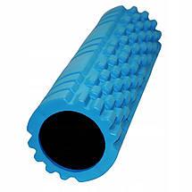 Масажний ролик (валик, роллер) SportVida EVA 45 x 14 см SV-HK0213 Blue, фото 2