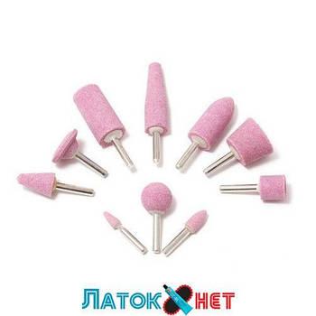 Набор камней абразивных 10 предметов хвостовик 6 мм в блистере F-GSK010 Forsage