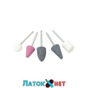 Набор камней абразивных 5 предметов хвостовик 3 мм в блистере F-GSK502 Forsage