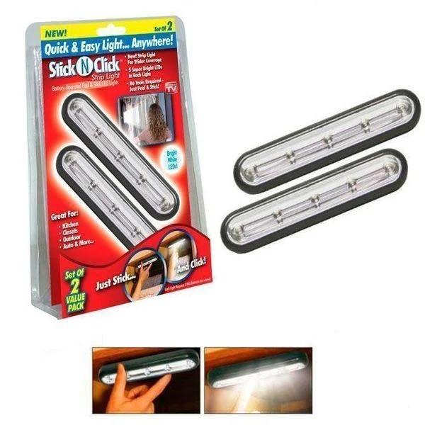 Светильник настенный StickNClick самоклеющиеся светильники Stick N Click Strip Light потолочные светильники