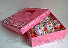"""Подарунковий набір """"Кіндер-сюрприз"""" (квадратна коробка), фото 3"""